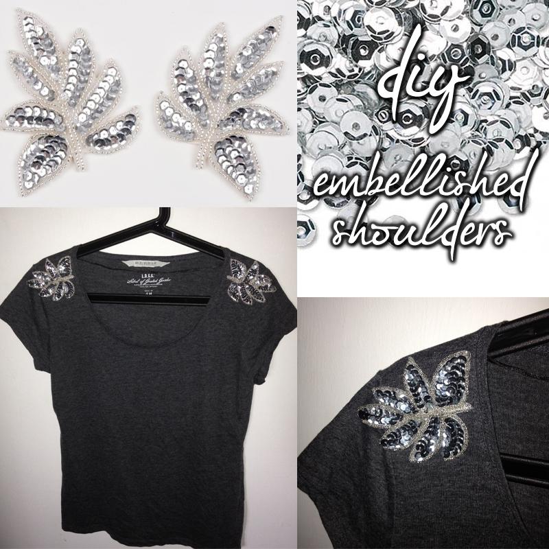 DIY Embellished Shoulders