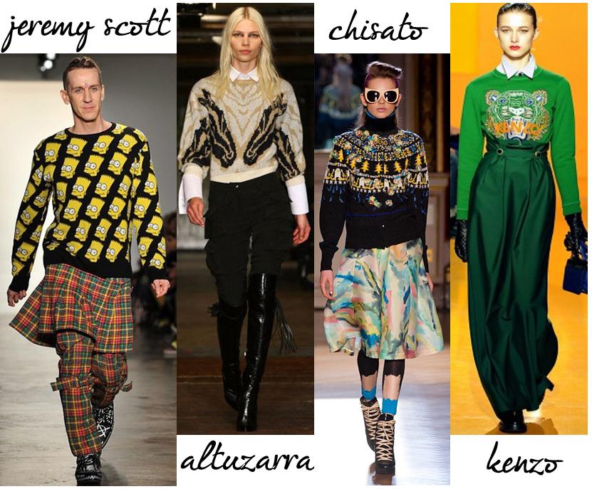 sweater trend 2012
