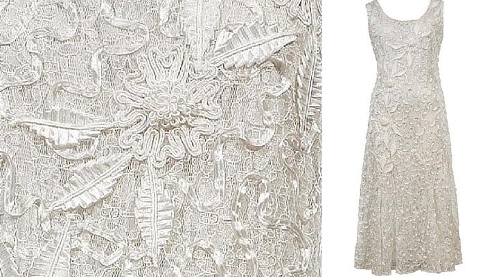 Chesca Plus Size Lace Dress With Cornelli Trim