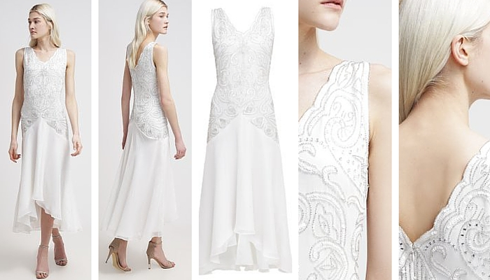 Frock and Frill White Cocktail Dress