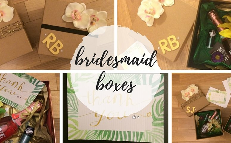 Personalised Bridesmaid Boxes